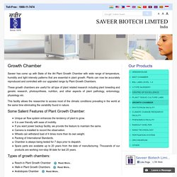 Growth Chamber, Manufactures Growth Chamber, Design Chamber for Plants