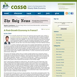 A Post-Growth Economy in France?