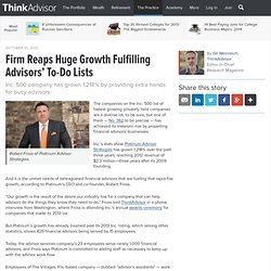 Firm Reaps Huge Growth Fulfilling Advisors' To-Do Lists
