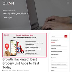Growth hacking of Best Grocery List Apps to test Today