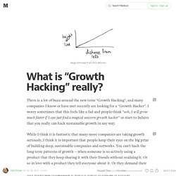 "What is ""Growth Hacking"" really?"