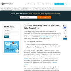 35 Growth Hacking Tools for Marketers Who Don't Code