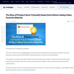 5 Growth Hacks from the Rise of Product Hunt