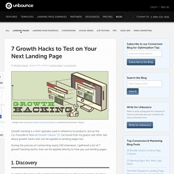 7 Growth Hacks to Test on Your Next Landing Page