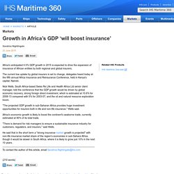 Growth in Africa's GDP 'will boost insurance'