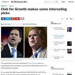 Club for Growth makes some interesting picks