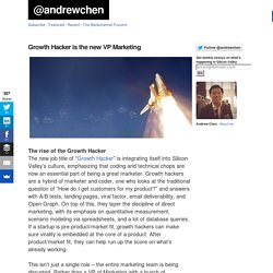 Growth Hacker is the new VP Marketing at @andrewchen