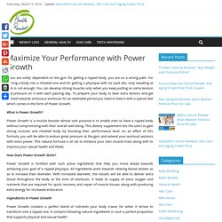 Power Growth Review- Safe And Natural Body Building Pills