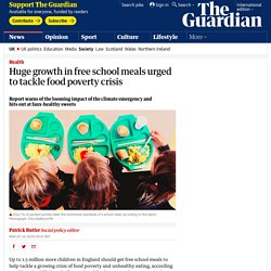 Huge growth in free school meals urged to tackle food poverty crisis