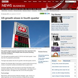 US growth slows in fourth quarter