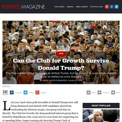 Can the Club for Growth Survive Donald Trump?
