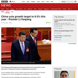 China cuts growth target to 6.5% this year - Premier Li Keqiang