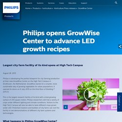 GrowWise Center - Philips Horticulture