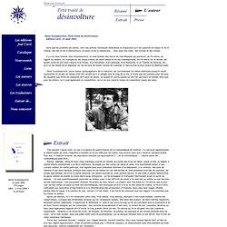 Denis Grozdanovitch, Petit traité de désinvolture, éditions Corti, 2002
