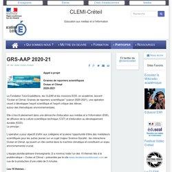 Graines de reporters scientifiques - 2020-21- CLEMI Créteil - Océans et climat