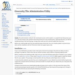 Grsecurity/The Administration Utility