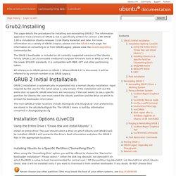 Grub2/Installing