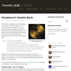 Grumiaux's Cosmic Bach