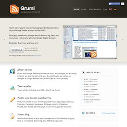 Gruml | Google Reader for Mac OS