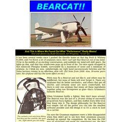 Grumman F8F Bearcat Pilot Report