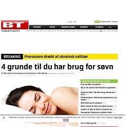 4 grunde til du har brug for søvn - kvinder.bt.dk