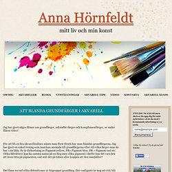 Att Blanda Grundfärger i akvarell
