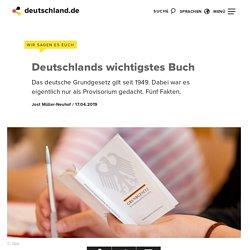 Deutsches Grundgesetz: Die wichtigsten Fakten