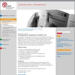 """Grundlagenseminar """"Rehabilitation und Teilhabe"""" (101)"""