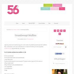 Grundrecept Muffins - 56kilo - Inspiration, Recept och Livets goda!