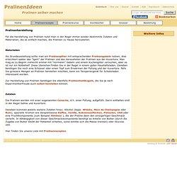 Grundrezept für Pralinen von pralinenideen.de