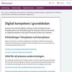 Grundskoleutbildningens digitalisering
