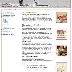 Lärande kulturer- Lärande exempel - grundskola/gymnasieskola - Jämställd förskola och skola