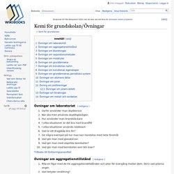 Kemi för grundskolan/Övningar - Wikibooks