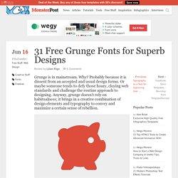 31 Free Grunge Fonts for Superb Designs
