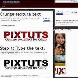 Grunge texture text