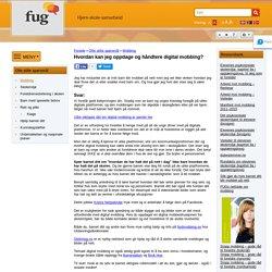 Hvordan kan jeg oppdage og håndtere digital mobbing? - FUG - Foreldreutvalget for grunnopplæringen
