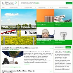 Grünspar Blog - Greensmart Solutions