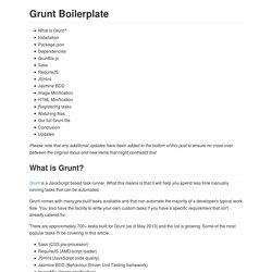 Grunt Boilerplate