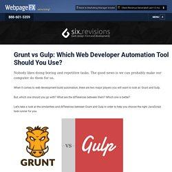 Web Development Build Automaton Tools