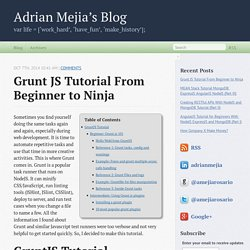 Grunt JS Tutorial From Beginner to Ninja - Adrian Mejia's Blog