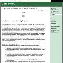 etic-grupo10 - La teoría de la elaboración de Merrill y Reigeluth