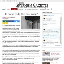 Gryphon Gazette : Is dress code the best road?