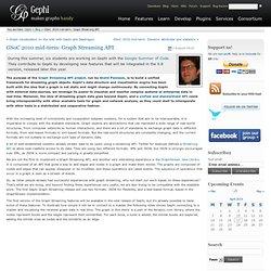 GSoC 2010 mid-term: Graph Streaming API