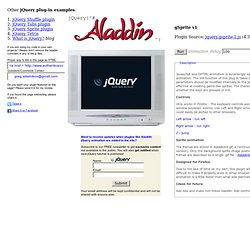 gSprite plugin - jQuery Aladdin (HTML5, JavaScript and jQuery animation for games example)