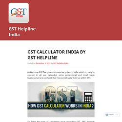 GST Calculator India by GST Helpline