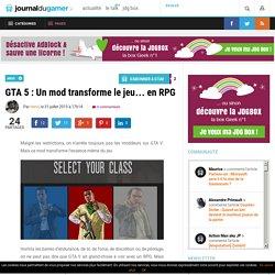 GTA 5 : Un mod transforme le jeu… en RPG