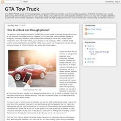 GTA Tow Truck: How to unlock car through phone?