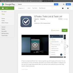 GTasks: Todo List & Task List – Apps para Android no Google Play