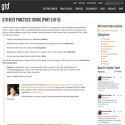 GTD Best Practices: Do (Part 5 of 5)