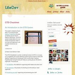 GTD Cheatsheet – An Intro on the GTD system